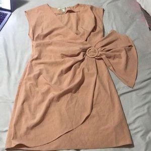 Peach small body con dress